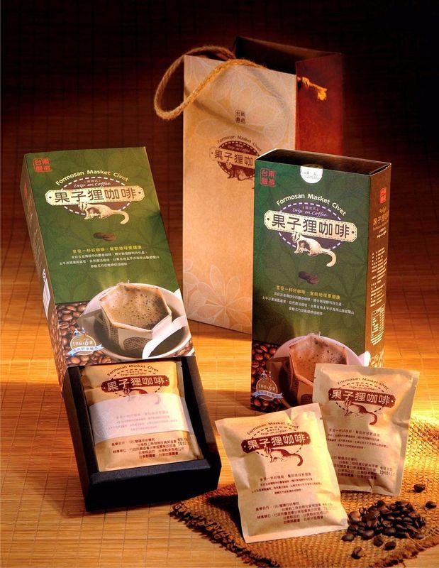 果子狸咖啡禮盒(掛耳)(10g*6/盒)##(生技技術製程)